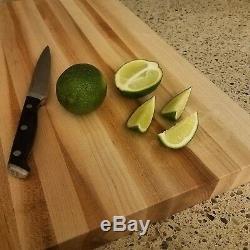 HomeProShops Wood Butcher Block Cutting Board 1-1/2 x 25 x 25 Solid Maple