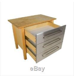 Ikea Varde Butcher Block Cabinet Island Stainless Steel Storage