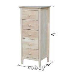 International-Concepts Lingerie Drawer Chest Euro Glides Butcher Block Top Wood