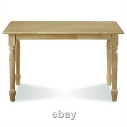 International Concepts Solid Casual Dining Table in Natural Brown Finish