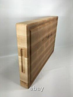 Jobe WoodArt Hard Maple Extra Large end grain Butcher Block Cutting Board