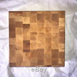 John Boos Block/Maple Butchers Block/Reversible/Checker Pattern/Good Condition