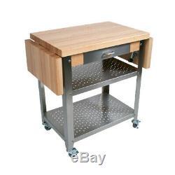 John Boos CUCE40 Cucina Elegante Cart with Maple Top