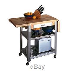 John Boos CUCE50 Cucina Elegante Butcher Block Cart 20W x 50L x 35H