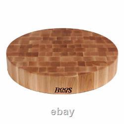 John Boos Classic 18 Inch Wood Round Chopping Block, Maple Wood Grain (Open Box)