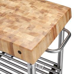 John Boos Cucina D'Amico 5 Maple End Grain Butcher Block Cart
