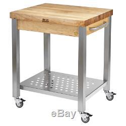 John Boos Cucina Technica 2.25 Maple Edge Grain Butcher Block Cart