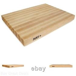 John Boos Maple Butcher Blocks Reversible Cutting Boards 24x18x2 in Rounded Edge