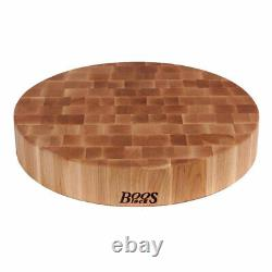 John Boos Maple Wood 18 Inch Round Chopping Block and Board Maintenance Set