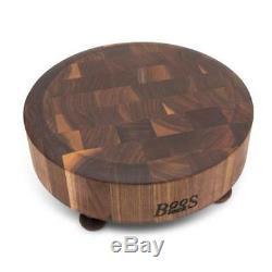 John Boos Raised 12¡± Black Walnut Round Chopping Block