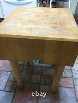 John Boos Solid Wood Butcher Block Table