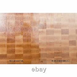 John Boos Walnut Wood Reversible 18 x 12 Cutting Board & Maintenance Oil Set