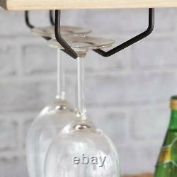 Kitchen Cart Island Table Butcher Block Bar Serving Mobile Storage Wine Rack