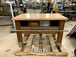 Kitchen Prep Table, Walnut with Maple butcher block $600
