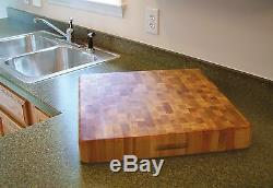 Kitchen Wood Chopping Board for Cutting made in Butcher Block Hardwood