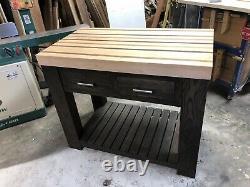 Kitchen island / butcher block. Butcher Block Made Of Hard Maple, Walnut
