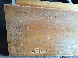LARGE WOOD BUTCHERBLOCK BUTCHER BLOCK VINTAGE 64 x 25' x 2 1/2 B2021