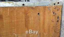 LARGE WOOD BUTCHERBLOCK BUTCHER BLOCK VINTAGE 64 x 27' x 2 1/4 B2020