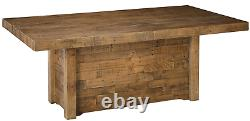 Large Rustic Dining Table Reclaimed Wood Butcher Block Kitchen Distressed Brown