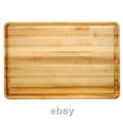 Large Wood Cutting Board 20 in. X 30 in Solid Hardwood Reversible Butcher Block
