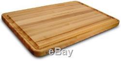 Large Wood Cutting Board 20 x 30 in. Solid Hardwood Edge Grain Butcher Block