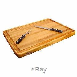 Large Wood Cutting Board 24x18 Butcher Block Cutting Board Kitchen Accessories