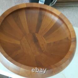 MID Century Dansk Teak Wood Butcher Block Bowl