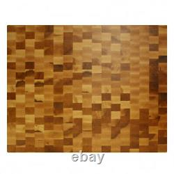 Maple End Grain Butcher Block Cutting Board 20 x 15 x 2