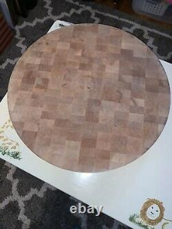 Maple Wood 18 Round Butcher Block-3 Thick-21+ Pounds-Good Condition