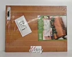 NEW John Boos Cherry Wood Edge Reversible Cutting Board Butcher Block 20x15x2.25