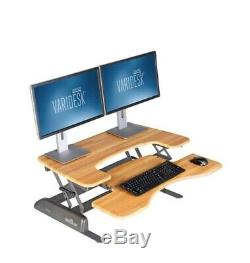 New VARIDESK Pro Plus 36 Height Adjustable Standing Desk Wood Butcher Block