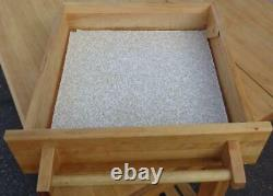 Nice Butcher Block Topped Chefs Table Expandable Drop Leaf Design VGC USED