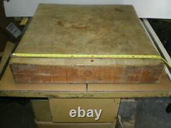 OLD Antique Vintage Maple Butcher block approx. 30 long x 30 wide x 5-1/2thick