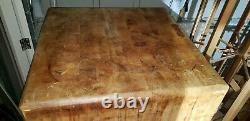 Old original butchers block table antique butcher not cheesy new one