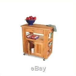 Pemberly Row Heart of the Kitchen Butcher Block Island in Natural