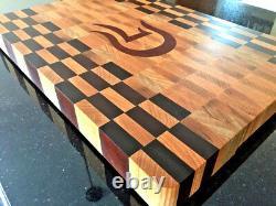 Personalized End Grain Cutting Board Butcher Block Handmade