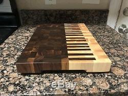Piano end grain cutting board butcher block Delta Wood Products