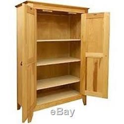Pie Safe Double Doors Kitchen Pantry Linen Closet Jelly Cabinet Storage Wood