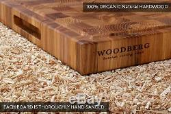 Professional butcher block cutting board 24 x 18 inch extra large thick woode