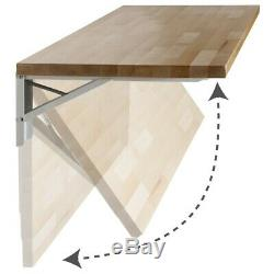 Quick Bench 4ft. Birch Butcher Block Folding Workbench with UV Finish