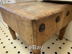RARE Vintage Maple Butcher Block Table, Kitchen Island