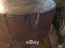 REDUCED Antique Chopping/Butcher Block, 22 Diameter