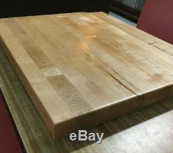 Reclaimed Heavy Maple Wood Table Top Butcher Block 23.50 X 19.75 X 1.75 Thick