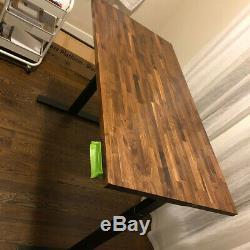 Sit Stand Walnut Butcher Blocks- 30 x 58 Top Desktops or Island Top, unfinished