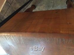 Solid Michigan Maple Butcher Block Table Kitchen Island Wood Welded