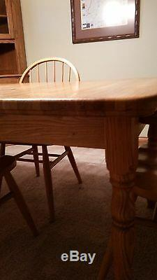 Solid Oak Butcher Block Dining Table