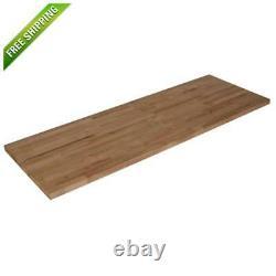 Solid Wood Butcher Block Countertop 4 ft 10 ft 100% Hardwood Unfinished Birch