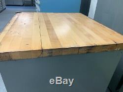 Stanley Vidmar Tool Storage Cabinet with Wood Butcher Block Top (32 x 30 x 35)