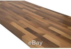T Butcher Block Countertop in Unfinished Solid Wood Rustic Style Home Furniture