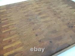 TOP CHOP Butcher Cutting Block 24 x 18 x 2, Wood Mahogany End Grain Oil Finish